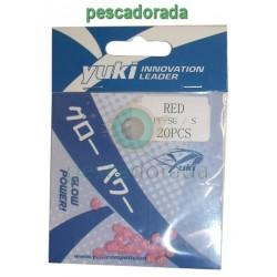 Perlas Blandas Yuki Color Rojo Talla S