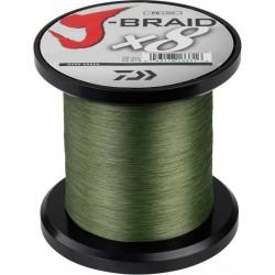 Hilo Trenzado Daiwa J Braid X8 0.28mm 3000 metros Verde