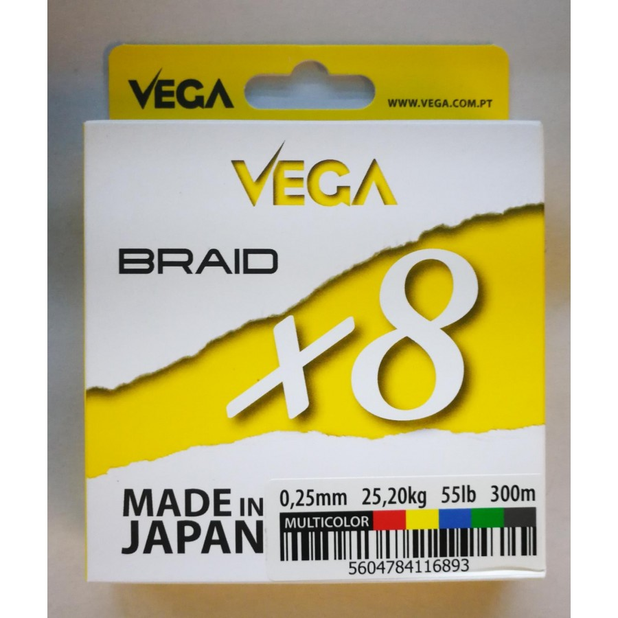 Trenzado VEGA Braid x8 Multicolor