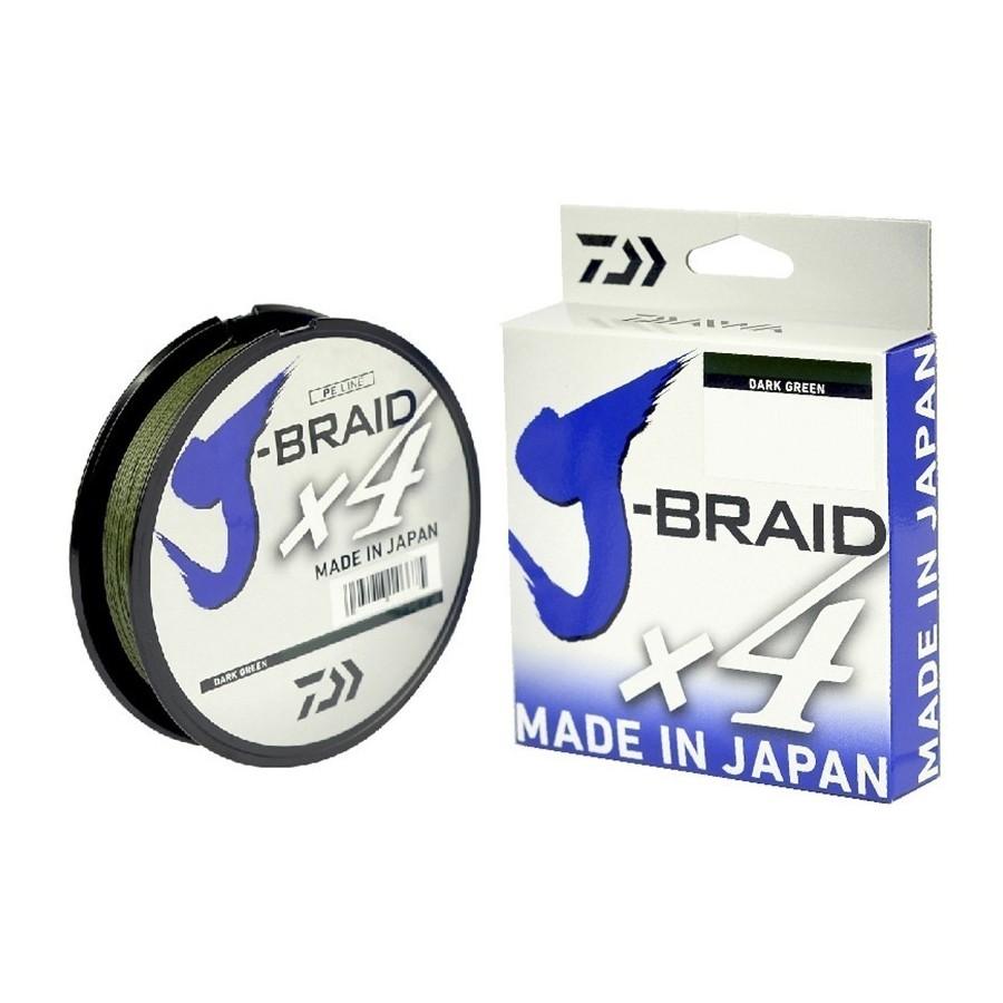 J-BRAID X4 DAIWA 135M Color: Verde Oscuro