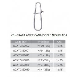 Sert XT - GRAPA AMERICANA DOBLE NIQUELADA