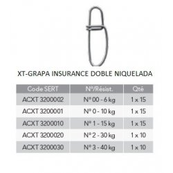 Sert XT - GRAPA INSURANCE DOBLE NIQUELADA
