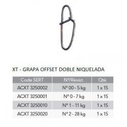 Sert XT - GRAPA OFFSET DOBLE NIQUELADA