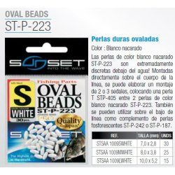 Sunset PERLAS OVALADAS WHITE