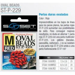 Sunset PERLAS OVALADAS RED