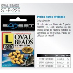 Sunset PERLAS OVALADAS GOLD