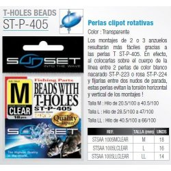 Sunset  PERLAS PERFORADAS CLEAR