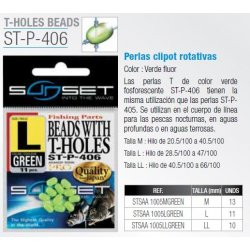 Sunset  PERLAS PERFORADAS GREEN