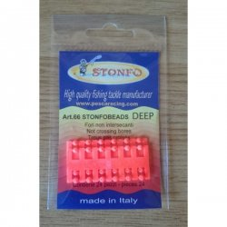 Perlas Biperforadas Rojo Fluorescente Stonfo Art.66