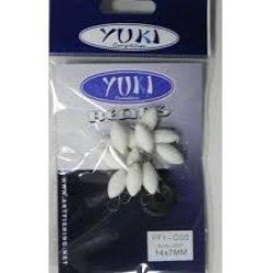 Perlas Flotantes Ovaladas Yuki Azul Luminoso
