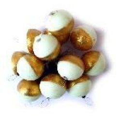 Perlas Flotantes Redondas Yuki Dorado Luminoso