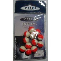 Perlas Flotantes Redondas Yuki Rojo Luminoso