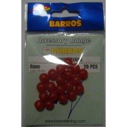 Perla Redonda Roja 8mm Barros