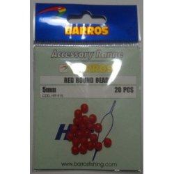 Perla Redonda Roja 5mm Barros