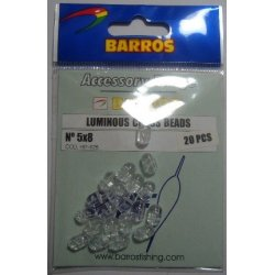 Perlas Doble Taladro 5x8mm Barros