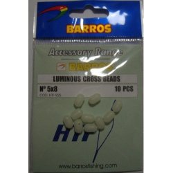 Perlas Cross Luminosas 5x8mm Barros