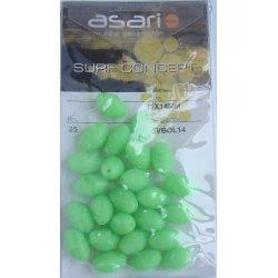 Perlitas Perforadas Fluorescentes Asari 11x14 mm