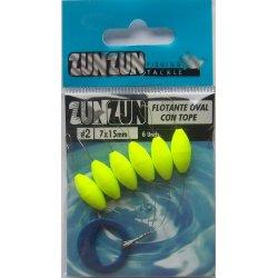 Perla Flotante Oval con Tope n-2 Amarillo Zun Zun