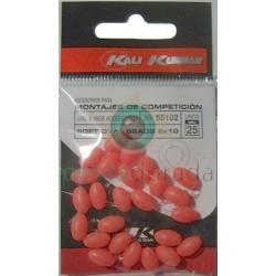 KALI KUNNAN Bolitas Blandas Fosforescentes 6x10 mm Rojas