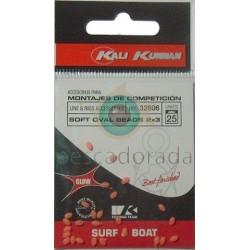 KALI KUNNAN Bolitas Blandas Fosforescentes 2x3 mm Rojas