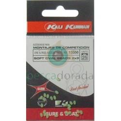 KALI KUNNAN Bolitas Blandas Fosforescentes 2x3 mm Verdes