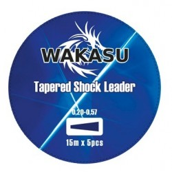 Wakasu Tapered Shock Leader Transparente