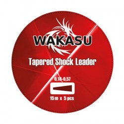 Wakasu Tapered Shock Leader Rojo