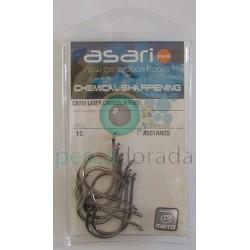 Anzuelo Asari Chinu Laser Carbon W/Ring con anilla
