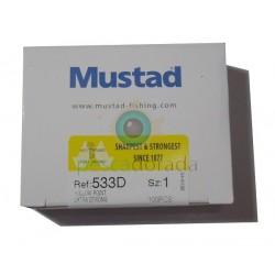 Anzuelo Mustad 533D (100 uds)