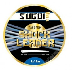 Sugoi Tapered Shock Leader 5x15m Tansparente