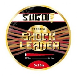 Sugoi Tapered Shock Leader 5x15m Rojo